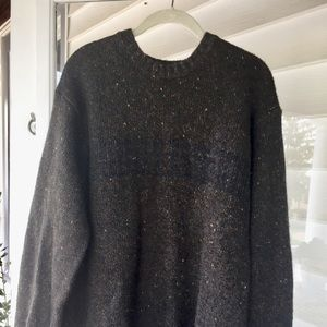 Vintage oversized brown textured sweater